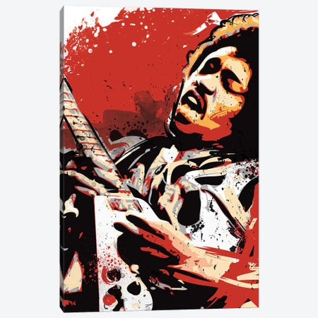Jimi Hendrix Pop Art Canvas Print #NOJ59} by 2Toastdesign Canvas Print
