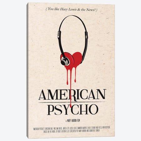 American Psycho Movie Art Canvas Print #NOJ5} by 2Toastdesign Canvas Art