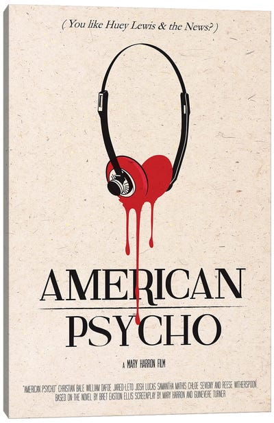 American Psycho Movie Art Canvas Art Print