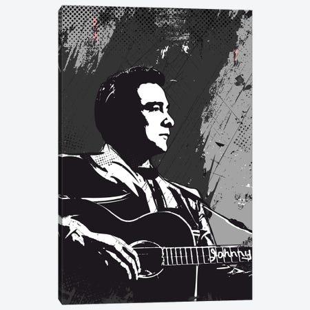 Johnny Cash Bw Art Canvas Print #NOJ60} by 2Toastdesign Canvas Art