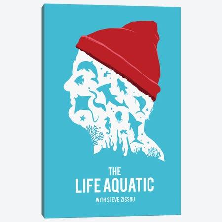 The Life Aquatic Movie Art Canvas Print #NOJ61} by 2Toastdesign Canvas Art