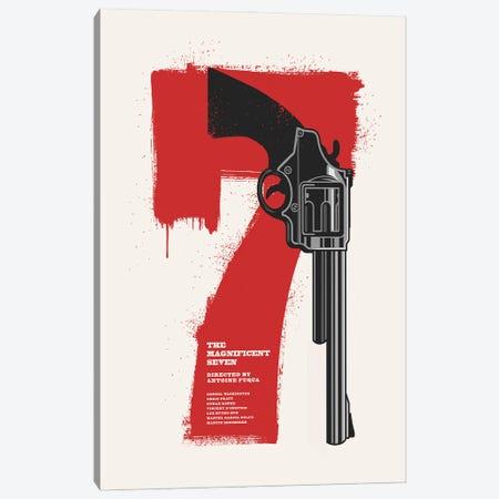 The Magnificent Seven Movie Art Canvas Print #NOJ64} by 2Toastdesign Canvas Print
