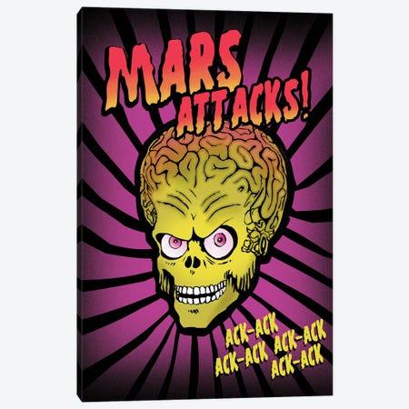 Mars Attacks Movie Art Canvas Print #NOJ65} by 2Toastdesign Canvas Print