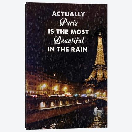 Midnight In Paris Travel Movie Art Canvas Print #NOJ67} by 2Toastdesign Canvas Art Print