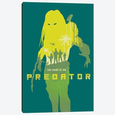 Predator Movie Art Canvas Print #NOJ75} by 2Toastdesign Canvas Art
