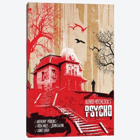 Psycho Movie Art Canvas Print #NOJ76} by 2Toastdesign Canvas Artwork