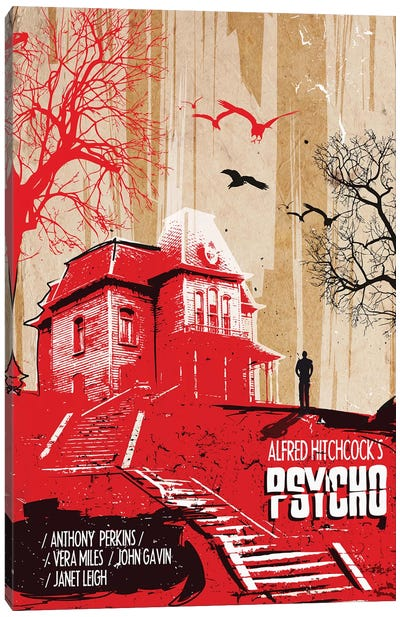 Psycho Movie Art Canvas Art Print