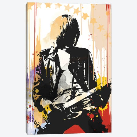 Johnny Ramone Pop Art Canvas Print #NOJ78} by 2Toastdesign Art Print