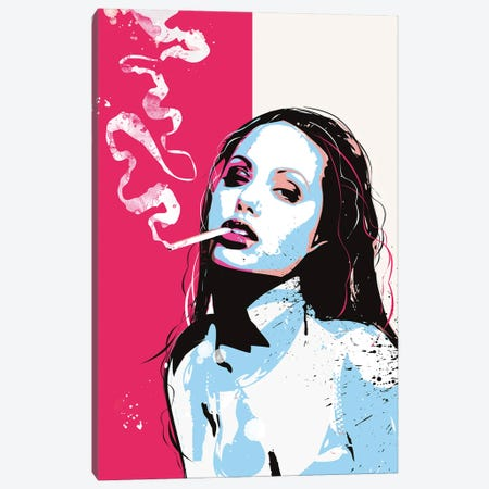 Angelina Jolie Pop Art Canvas Print #NOJ7} by 2Toastdesign Canvas Artwork