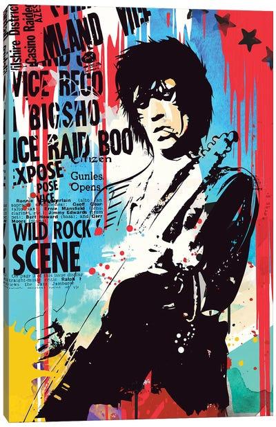 Keith Richards Pop Art Canvas Art Print