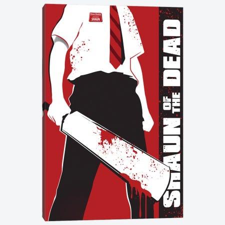 Shaun Of The Dead Movie Art Canvas Print #NOJ87} by 2Toastdesign Art Print