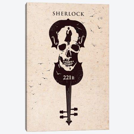 Sherlock Movie Art Canvas Print #NOJ88} by 2Toastdesign Canvas Art
