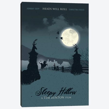 Sleepy Hollow Movie Art Canvas Print #NOJ89} by 2Toastdesign Canvas Wall Art