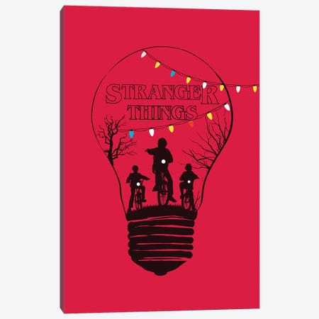 Stranger Things Red Art Canvas Print #NOJ91} by 2Toastdesign Art Print