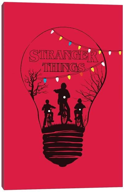 Stranger Things Red Art Canvas Art Print