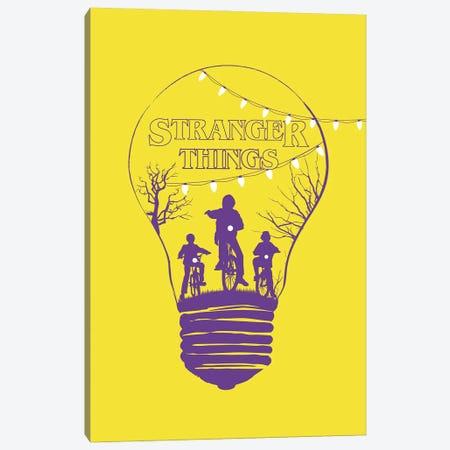 Stranger Things Yellow Art Canvas Print #NOJ92} by 2Toastdesign Art Print