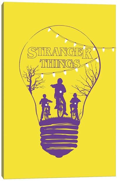 Stranger Things Yellow Art Canvas Art Print