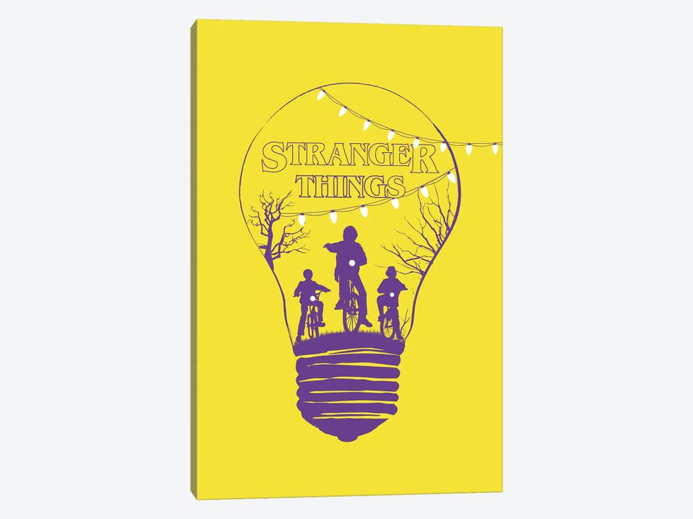 Stranger Things Yellow Art by 2Toastdesign 1-piece Canvas Print