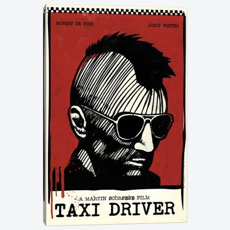 Taxi Driver Movie Art Canvas Print #NOJ94} by 2Toastdesign Canvas Art