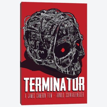 Terminator Movie Art Canvas Print #NOJ95} by 2Toastdesign Canvas Artwork