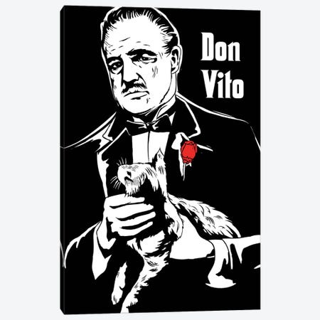Don Vito The Godfather Art Canvas Print #NOJ96} by 2Toastdesign Canvas Artwork