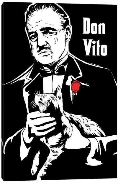Don Vito The Godfather Art Canvas Art Print