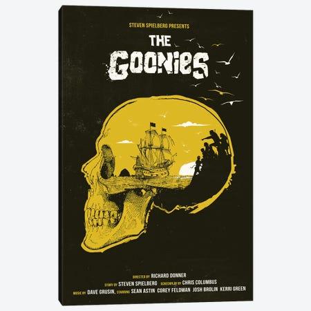 The Goonies Movie Art Canvas Print #NOJ97} by 2Toastdesign Canvas Artwork