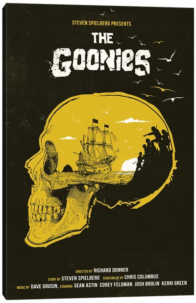 The Goonies Movie Art Canvas Art Print