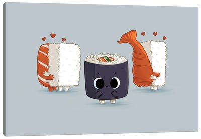 Lonely Sushi Canvas Art Print