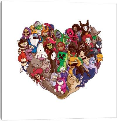 Heart All Villains Canvas Art Print