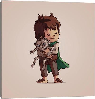 Frodo & Gollum (Villains) Canvas Art Print