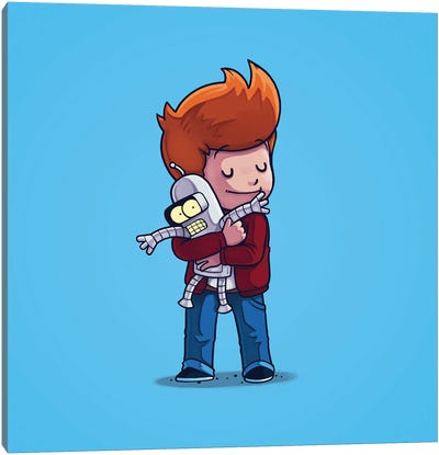 Fry & Bender (Villains) Canvas Art Print