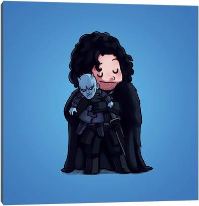 Jon Snow & Night King (Villains) Canvas Art Print