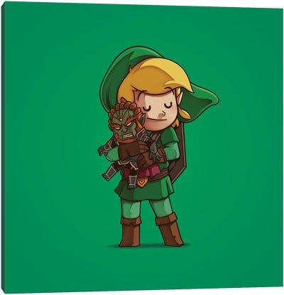 Link & Ganondorf (Villains) Canvas Art Print