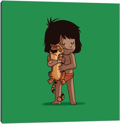 Mowgli & Shere Khan (Villains) Canvas Art Print