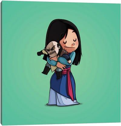Mulan & Shan Yu (Villains) Canvas Art Print