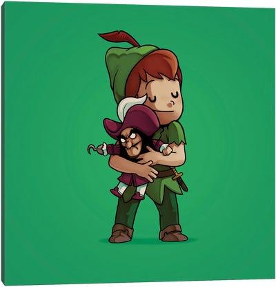 Peter Pan & Hook (Villains) Canvas Art Print