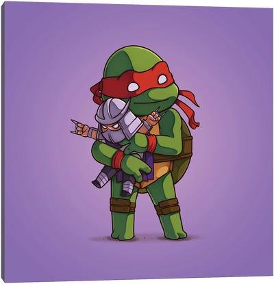 Raphael & Schredder (Villains) Canvas Art Print