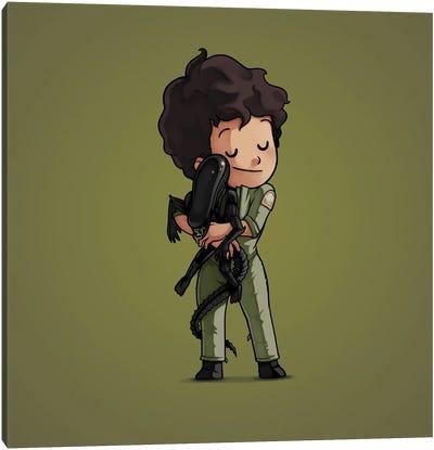 Ripley & Alien (Villains) Canvas Art Print