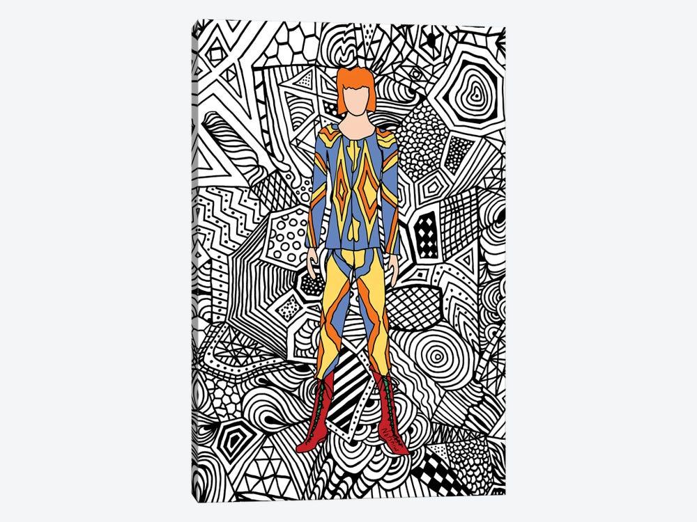 Bowie Fashion I by Notsniw Art 1-piece Canvas Art Print