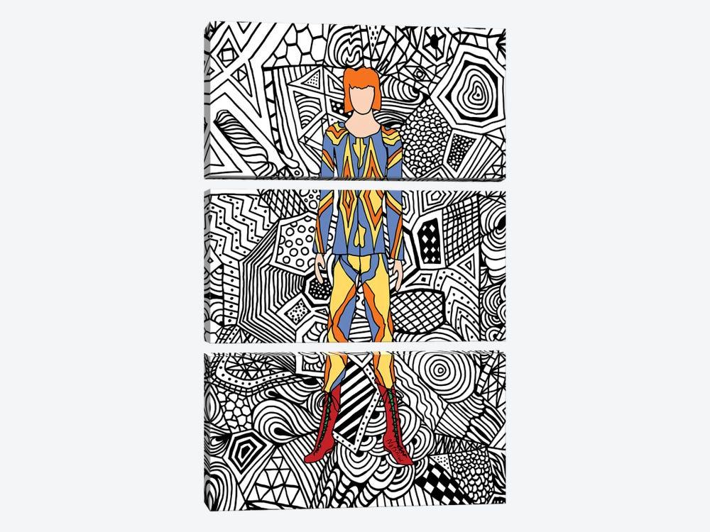 Bowie Fashion I by Notsniw Art 3-piece Canvas Art Print