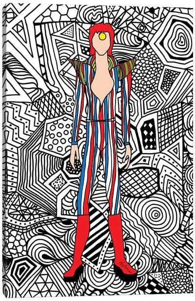 Bowie Fashion III Canvas Art Print