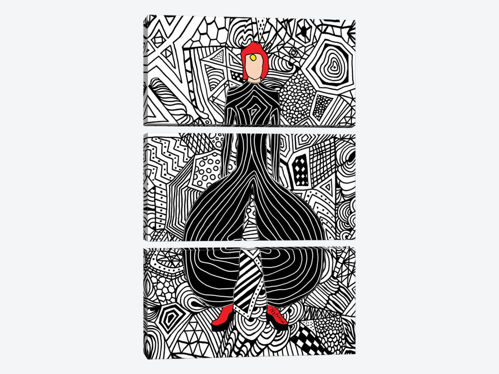 Bowie Fashion VI by Notsniw Art 3-piece Canvas Art Print