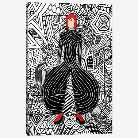 Bowie Fashion VI Canvas Print #NOT16} by Notsniw Art Canvas Wall Art
