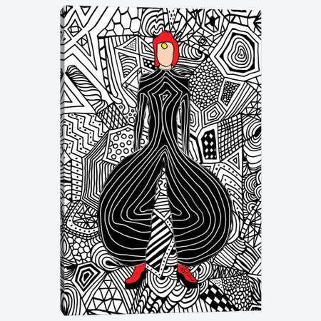 Bowie Fashion VI Canvas Print #NOT16} by Notsniw Art Canvas Wall Art
