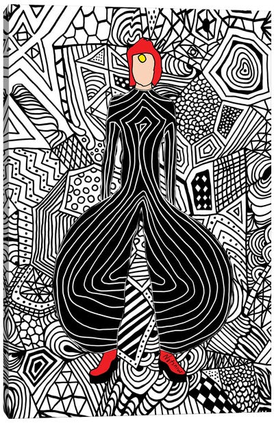 Bowie Fashion VI Canvas Art Print