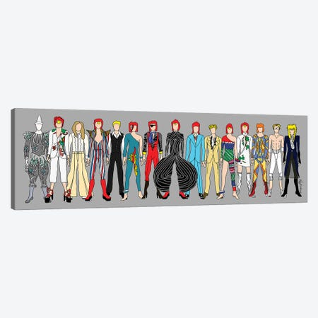 Bowie Line Up Canvas Print #NOT17} by Notsniw Art Canvas Art