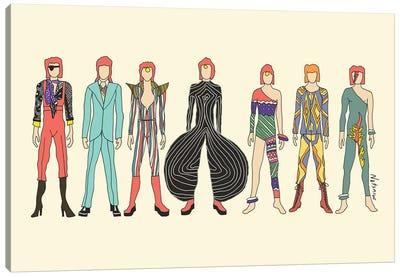 7 Redheaded Bowies Canvas Art Print