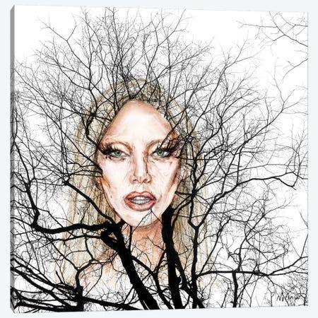 GaGa Wisdom Veins Canvas Print #NOT23} by Notsniw Art Canvas Wall Art