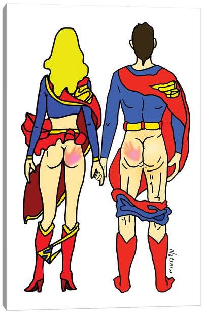 Hero Butt Lovers Are Super Canvas Art Print